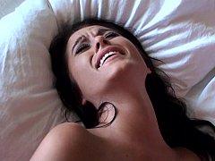Amerikanisch, Schlafzimmer, Vollbusig, Paar, Spermaladung, Süss, Muschi, Teen in den arsch