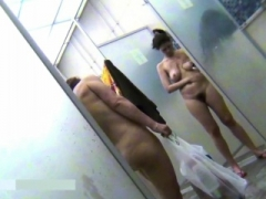 Spying Mothers in pubic shower room