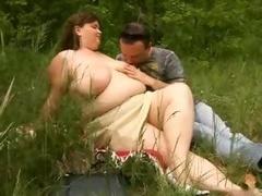 Belle grosse femme bgf, Grossier, De plein air