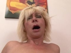 Mature whore gets banged hard by immense black schlong