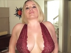 Mega Boobed Maggie Green Rubs Her Muff and also Gives blowjob Her Tits!