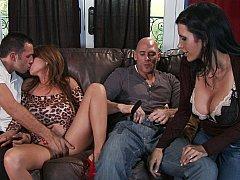 2 busty wives, 2 big cocks