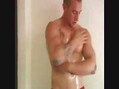 Str8 Muscle Hunk Cum Twice