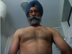Indian Daddy Jerks Off & Cums