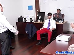 Office birthday boy anal fucked before facial
