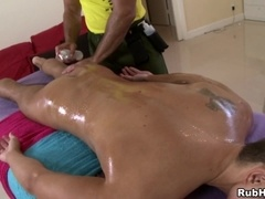 Sexy gays Trace Michaels and Dylan Hauser make love in massage parlor