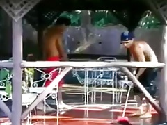 Pool boys fucking around !