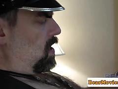 Leather bear Steve Sommers fucks chubby bear