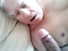 Old grandpa, the cocksucker