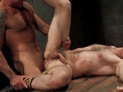 Dante gets tortured and fucked by Nick Moretti in a basement