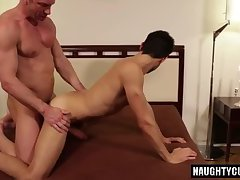 Big dick jock flip flop and cumshot