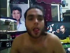 horny arab man on cam