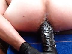 7cm giant dildo in my asshole
