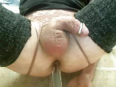 glass toy in tight ass