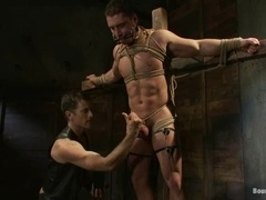 Marc Dylan gets his cock rubbed and his ass fucked by Master Avery