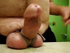 Tied up big balls little hard thick boner play