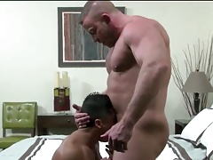 Sexy hunk gets ass stretched