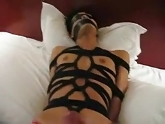 boy tied up and cum