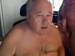 grandpa suck on webcam