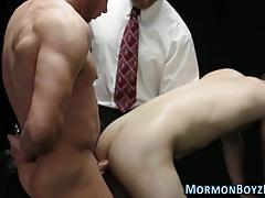 Barebacked mormon ass