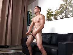 Young Horny Straight Army Muscle Guy Jerks Big Dick