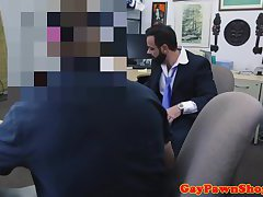 Straighty analfucking pawnbroker until facial