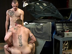 Extra Big Dicks Mechanic Takes it Up the Butt