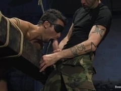 Chad Hunt gets his ass toyed and fucked by Dominik Rider in BDSM scene