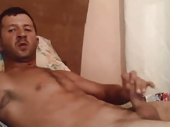 Hunk turkish shooting on bed