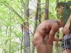 Hot men in woods