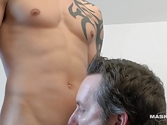 Maskurbate Ripped Marc's Big Cock Devoured at the Office