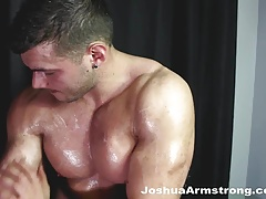 Instructional muscle building upclose cumshot