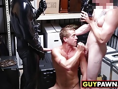 Hot blonde rocker gets buttfucked on his first day of work