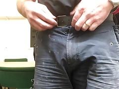 Wife's silky red panties