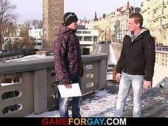 He picks up and fucks hetero guy