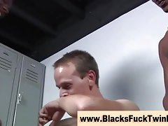 Cock sucking gay twink takes cock
