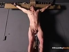 Whipped BDSM Slave Cums While Punished Spanking Gay Bondage
