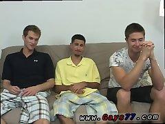 Gay men cock sucking trio