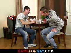 Hetero guy is seduced by a gay