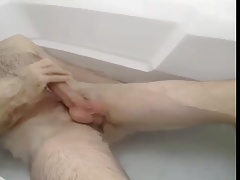 jerking off in the bath tub