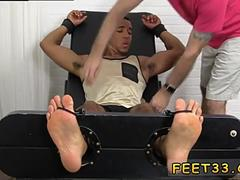 gay twink feet Mikey Tickle d In The Tickle Chair