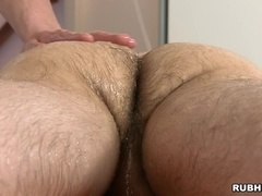 Tattooed homo gets his hairy ass pounded after sucking a dick