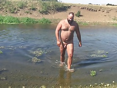 Jons Naked river swim 2016