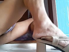 Order Served: Shaking Orgasm in High Heel 2