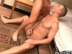 Brothers excited boyfriend gets purple pole