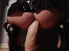 Big dildo in my little ass