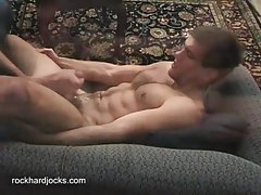 Gay gets his anal finger fucked