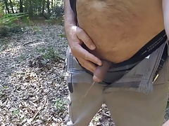 Pissing in the forest