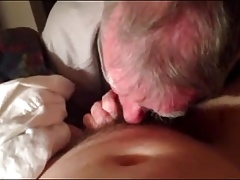 Older grandpa sucking