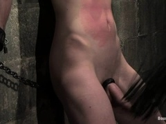 Nomad gets his dick rubbed and enjoys weights on his balls